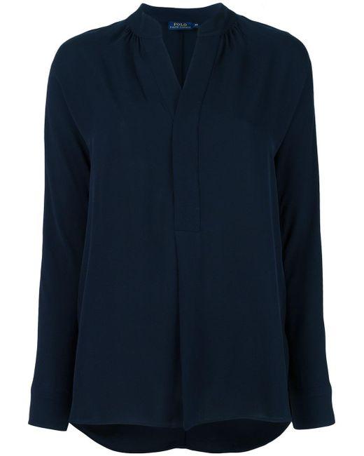 Polo Ralph Lauren | Blue Plain Blouse | Lyst