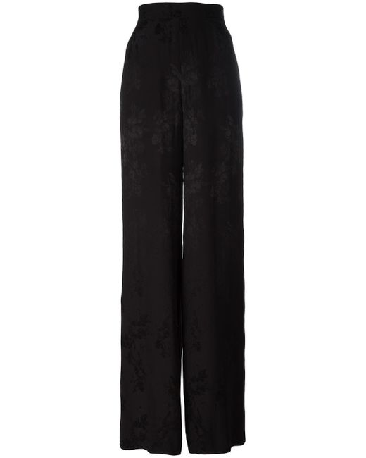 Etro | Black Flared Trousers | Lyst