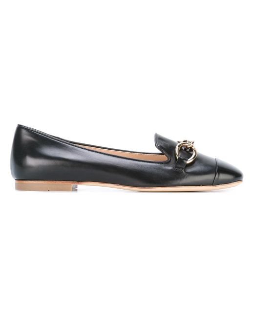 Tod's | Black Gold-tone Chain Detail Slippers | Lyst