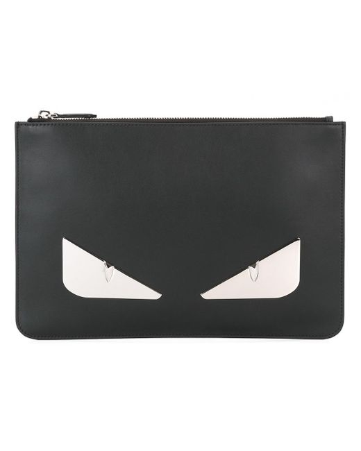 Fendi   Black Bag Bugs Clutch for Men   Lyst