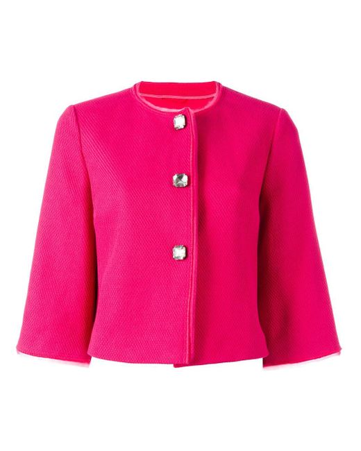 Ermanno Scervino | Pink Cropped Jacket | Lyst