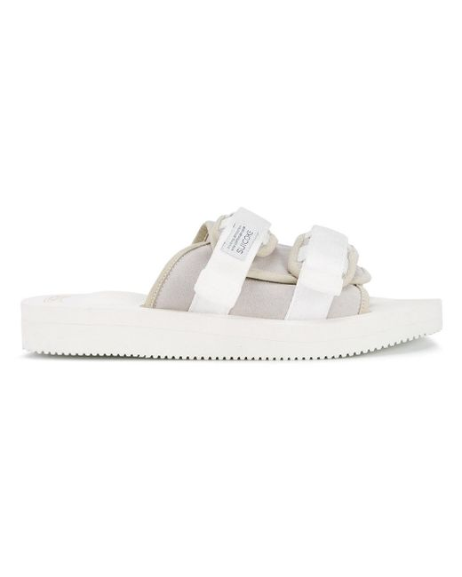 Suicoke | White Moto-vs Slider Sandals | Lyst