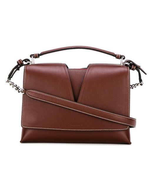 Jil Sander | Red Contrast Stitching Crossbody Bag | Lyst