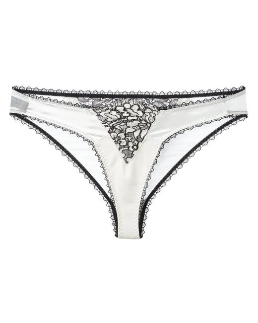Loveday London   White Lace Briefs   Lyst