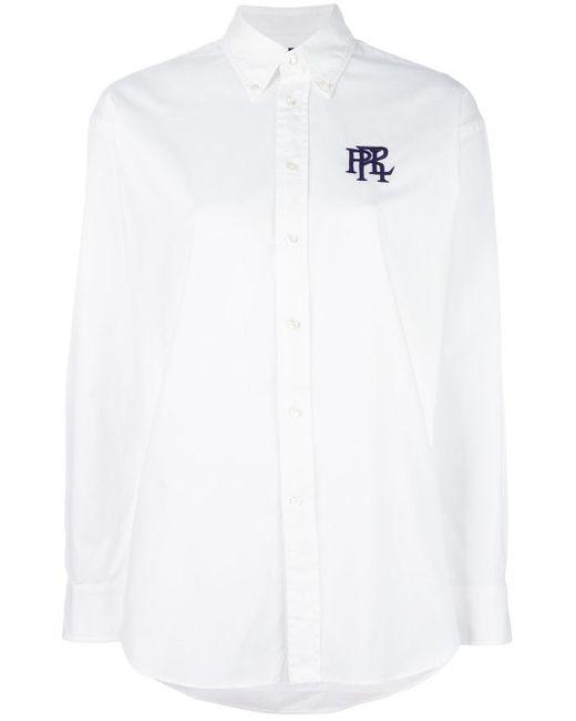 Polo Ralph Lauren   White Logo Print Shirt   Lyst