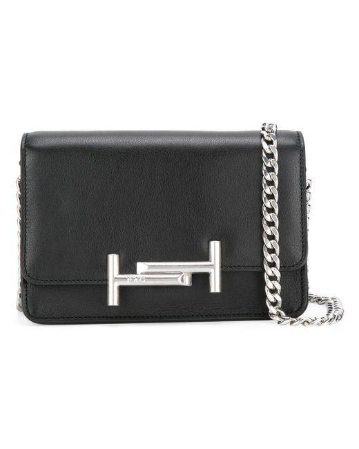 Tod's | Black Double T Crossbody Bag | Lyst