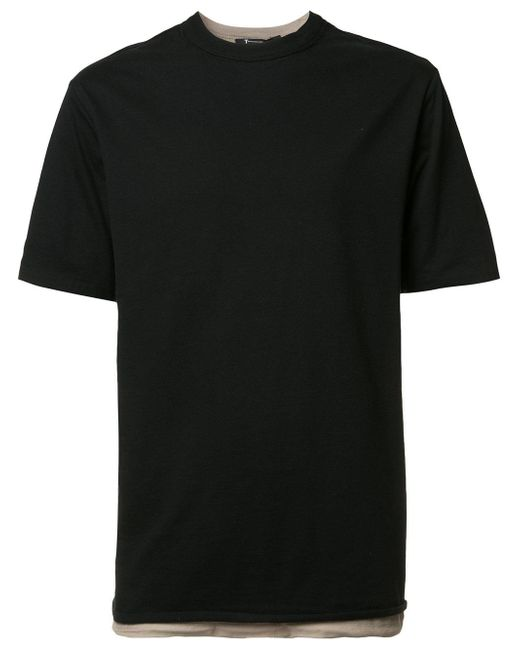 T By Alexander Wang | Black Double Layered T-shirt for Men | Lyst