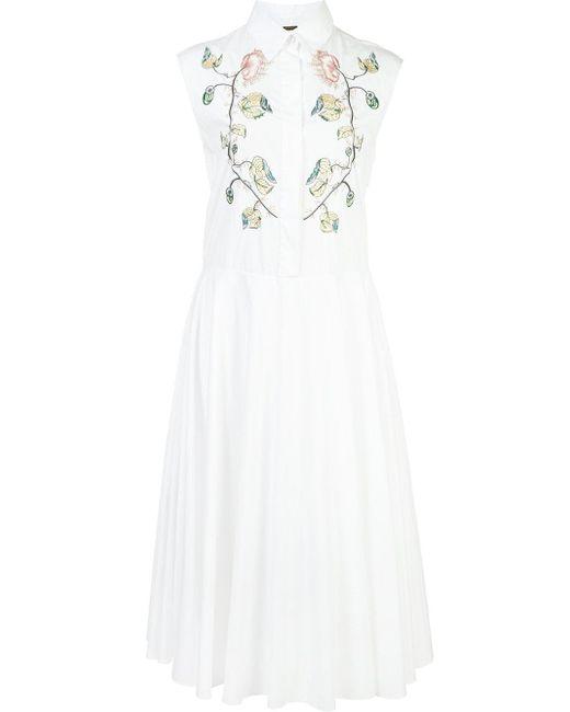 Adam Lippes | White Sleeveless Shirt Dress | Lyst