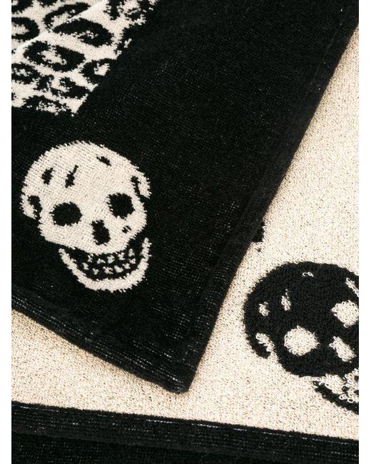 Ralph Lauren Mens Beach Towel: Alexander Mcqueen Leopard And Skull Beach Towel In Black