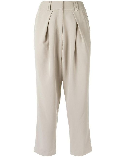 Olympiah - Natural Cropped Trousers - Lyst