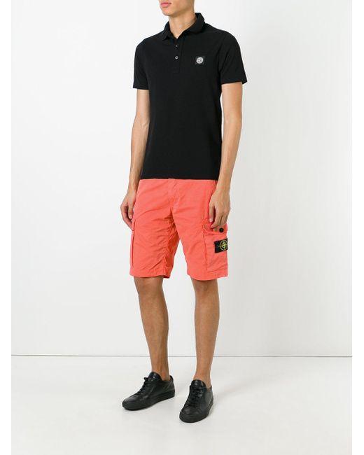 Stone island Cargo Shorts in Orange for Men - Lyst