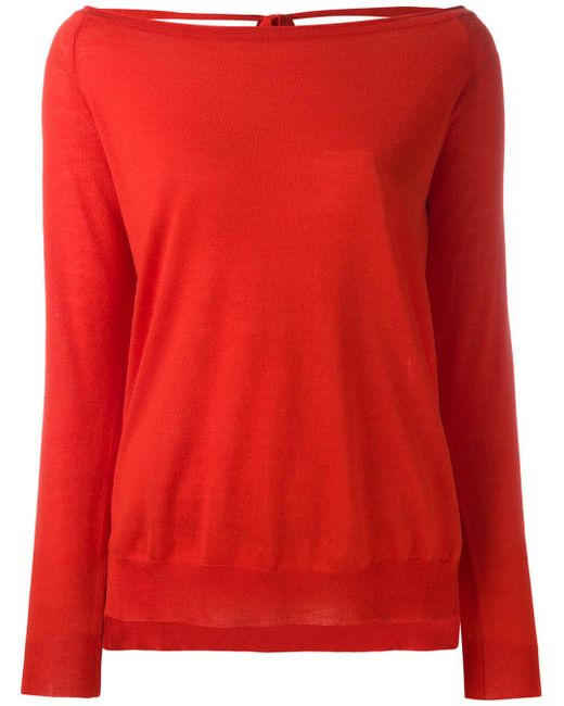 P.A.R.O.S.H. | Red Open Back Sweater | Lyst