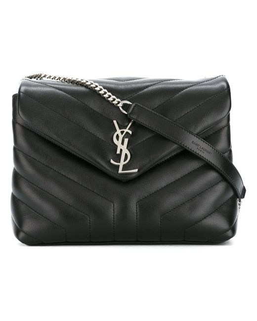 Saint Laurent Small Loulou Monogram Shoulder Bag In Black