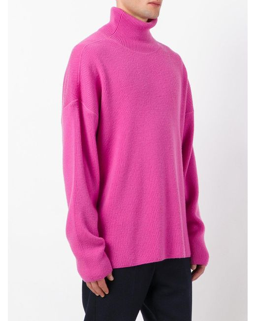 Ami Oversized Turtleneck Sweater in Pink for Men - Save 35% | Lyst