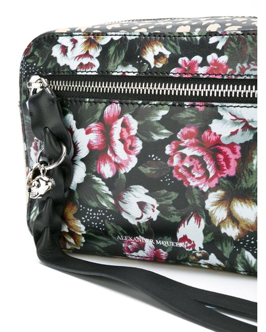 Alexander Mcqueen Floral Print Camera Bag | Lyst