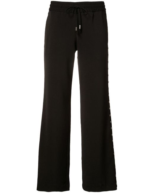 Alice + Olivia | Black Flared Trousers | Lyst