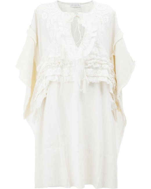 Faith Connexion | Natural Embroidered Mid-length Dress | Lyst