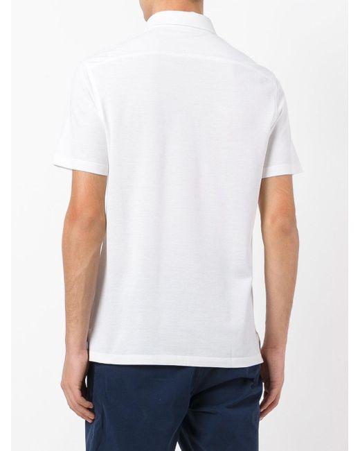 Ermenegildo zegna classic polo shirt men silk cotton for Zegna polo shirts sale