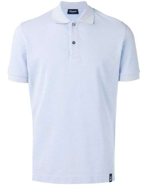 Drumohr | Blue Polo Shirt for Men | Lyst
