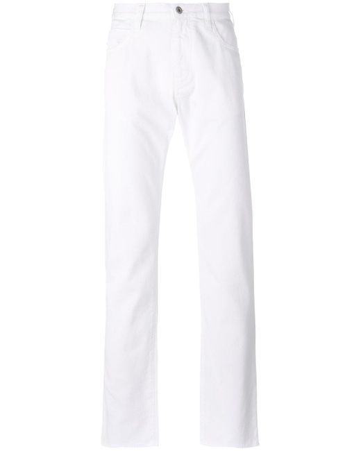 Armani Jeans | White Straight Trousers for Men | Lyst