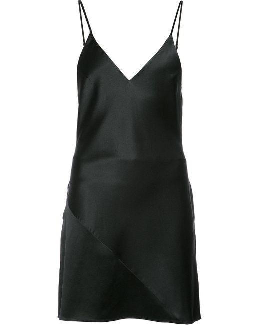 Fleur du Mal | Black Mini Slip Dress | Lyst
