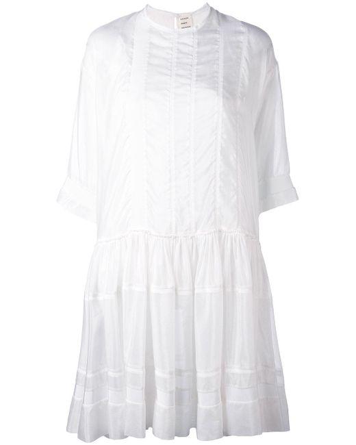 Maison Rabih Kayrouz | White Drop Hem Dress | Lyst