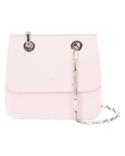 Mark Cross | Pink Francis Small Chain Flap Bag | Lyst