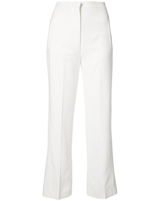 Khaite | White Cropped Trousers | Lyst