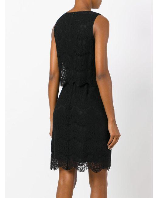 Armani black lace dress