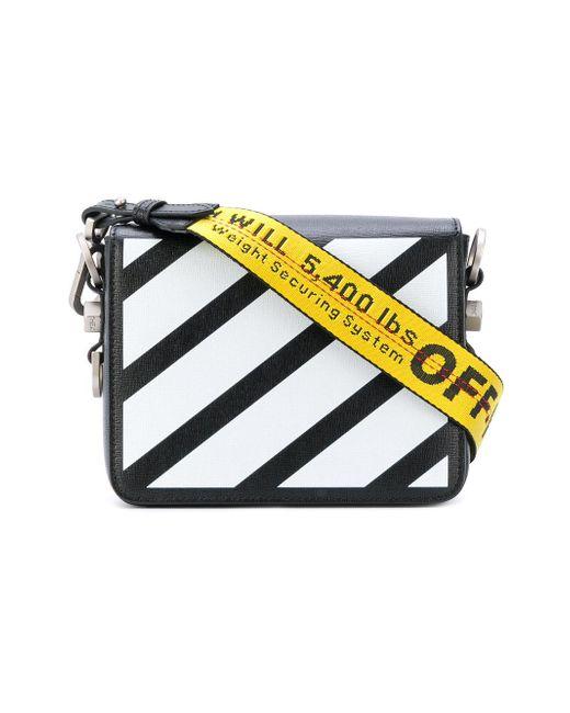 off white c o virgil abloh diagonals bag in black lyst