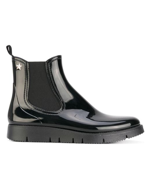 RED Valentino | Black High Shine Boots | Lyst