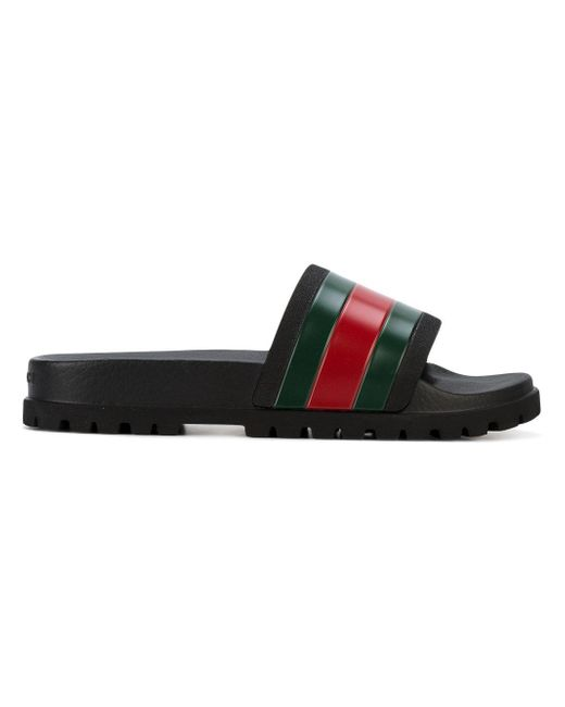 Rubber Rings For Men >> Gucci - Web Sliders - Men - Foam Rubber/rubber - 7 in Black for Men - Save 20% | Lyst