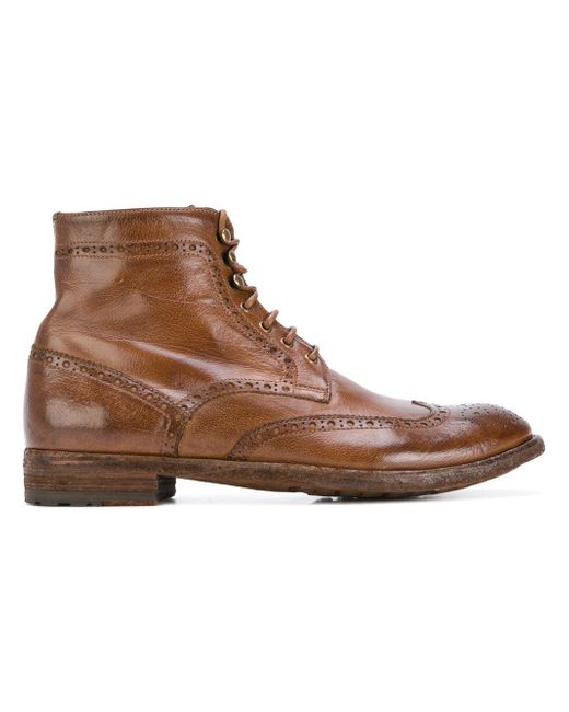 Officine Creative | Brown Ankle Boots for Men | Lyst