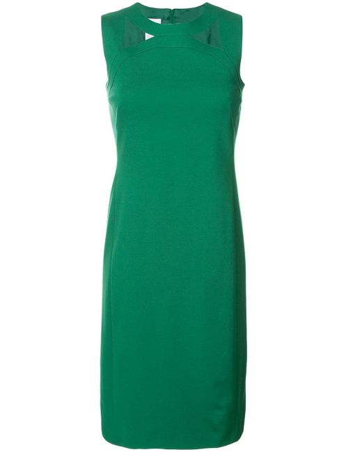 Akris Punto   Green Cut-out Chest Detail Dress   Lyst
