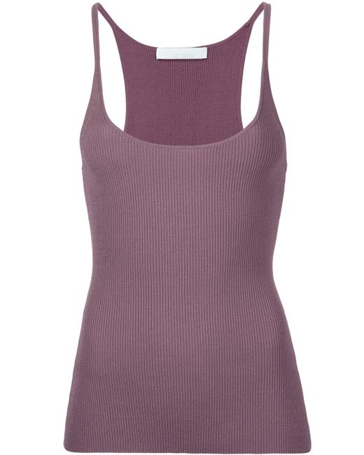 Dion Lee | Purple Ribbed Tank Top | Lyst
