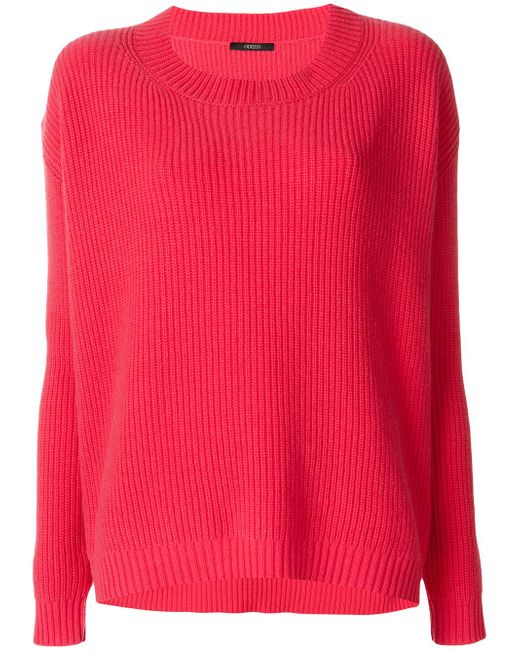 ODEEH | Pink Ribbed Jumper | Lyst