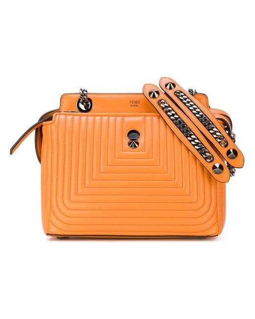 Fendi | Orange Dotcom Click Quilted Shoulder Bag | Lyst