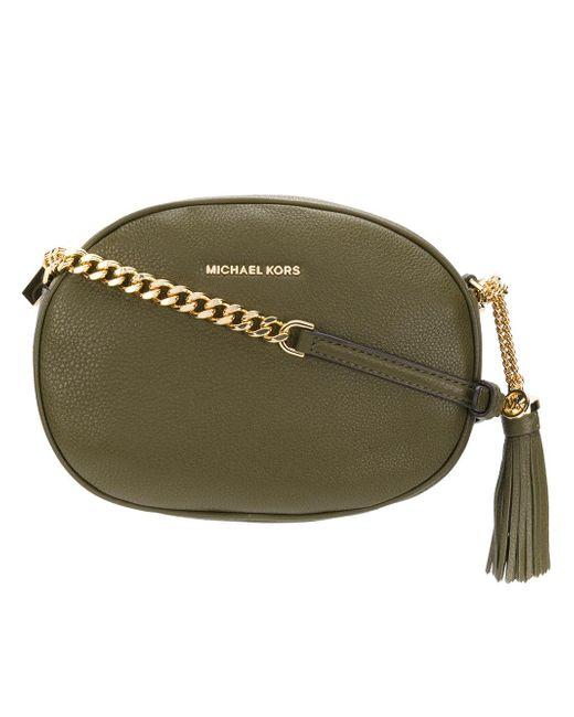 MICHAEL Michael Kors   Green Tassel Detail Crossbody Bag   Lyst