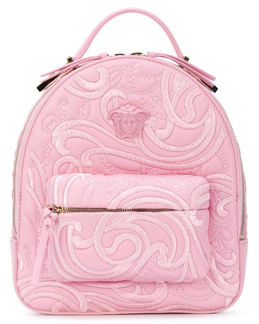 Versace | Pink Palazzo Chain Backpack | Lyst