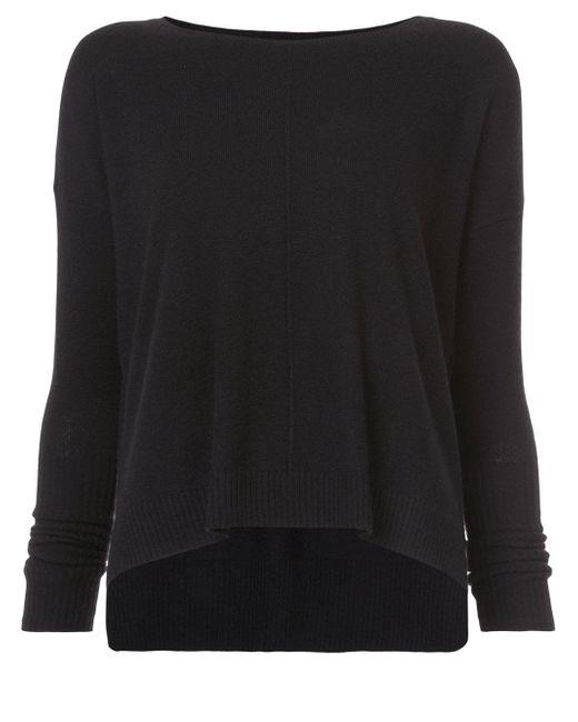 Nili Lotan | Black Round Neck Sweater | Lyst