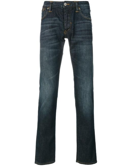 Armani Jeans | Blue Straight Jeans for Men | Lyst