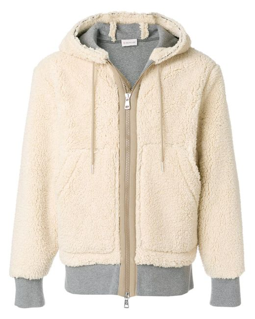 Moncler | Natural Giacca Shearling for Men | Lyst