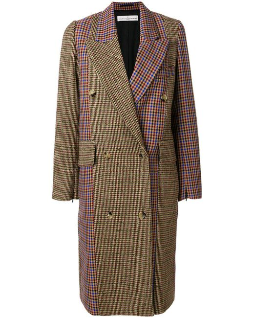 Golden Goose Deluxe Brand | Multicolor Color Block Checkered Coat | Lyst