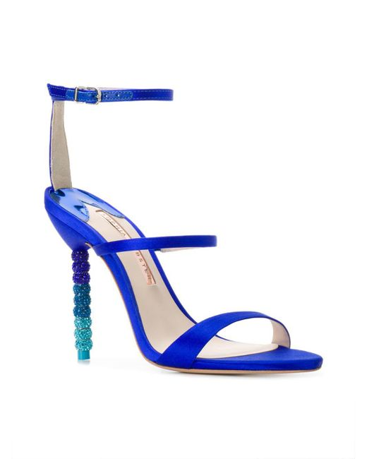 f292155a60a Sophia Webster. Blue Women s Rosalind Crystal Satin High-heel Sandals