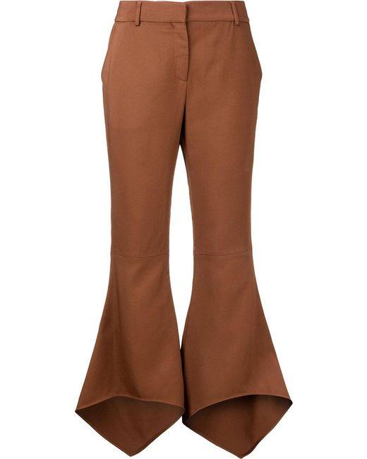 Sies Marjan - Brown Flared Cropped Trousers - Lyst