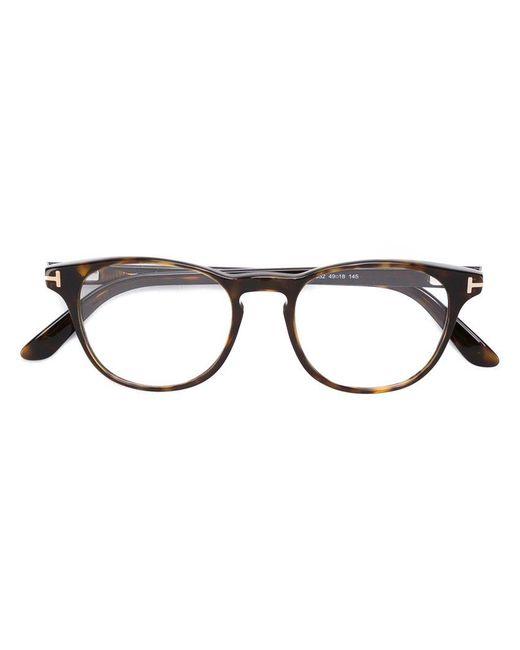 Tom Ford | Brown Square Frame Glasses for Men | Lyst