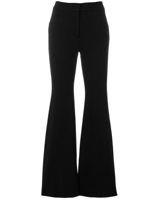 Dorothee Schumacher - Black High Waisted Flared Trousers - Lyst
