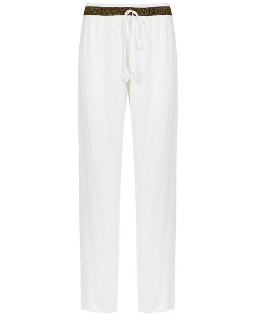 Martha Medeiros - White Wide Leg Trousers - Lyst