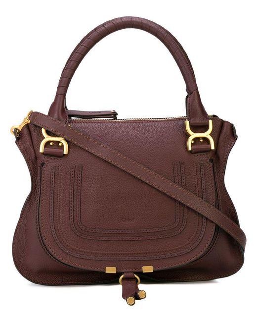 Chloé - Brown Marcie Tote Bag - Lyst