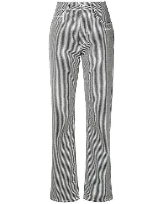 6dd0f38968dd Off-White c o Virgil Abloh - Blue Straight-leg Jeans - Lyst ...